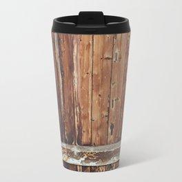 Aged Wooden Fence Travel Mug