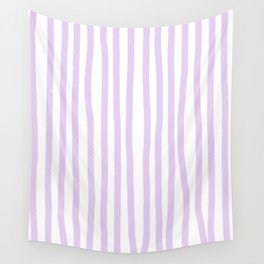 Lavender Stripes Wall Tapestry