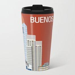 Buenos Aires, Argentina - Skyline Illustration by Loose Petals Travel Mug