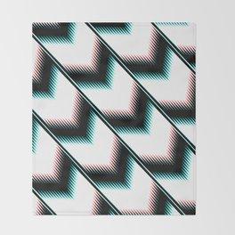 Black and white modern pattern Throw Blanket