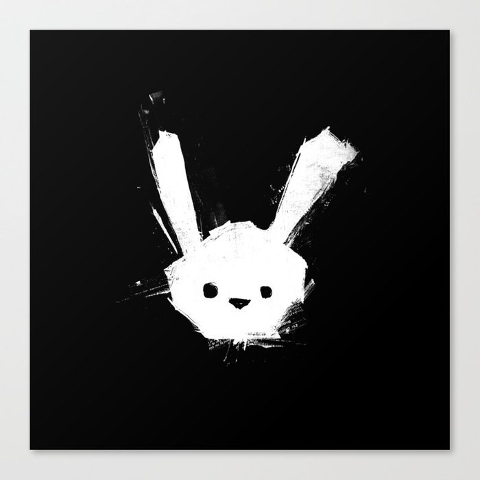minima - splatter rabbit  Canvas Print