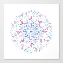 Mandala floral Canvas Print