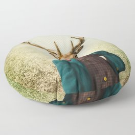Lord Staghorne in the wood Floor Pillow