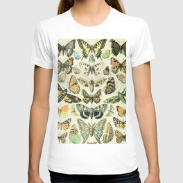 Vintage Butterfly Diagram // Papillions by Adolphe Millot XL 19th Century Science Textbook Artwork T-shirt