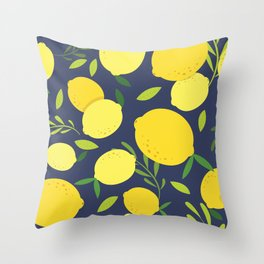 Freshly Picked Lemon Throw Pillow