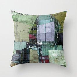 Broken building Throw Pillow