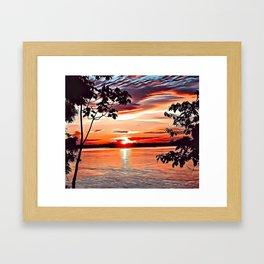 Jungle Sunset Airbrush Artwork Framed Art Print