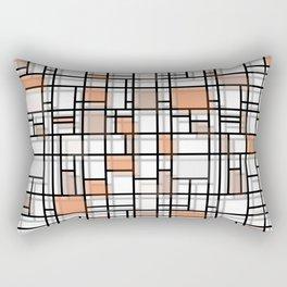 Autumn Shadows Modern Art Rectangular Pillow