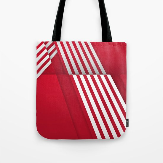 Optical illusion_red Tote Bag