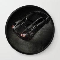 lamborghini Wall Clocks featuring Lamborghini Gallardo by Vasco Estrelado - Photographer