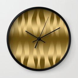 Modern Gold Abstract Zebra Stripes. Wall Clock