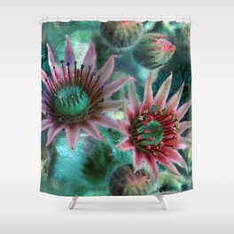 Succulents Flower Garden Shower Curtain