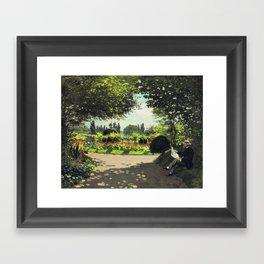 Reading Garden Framed Art Print