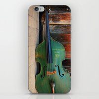 bass iPhone & iPod Skins featuring Double Bass by happeemonkee