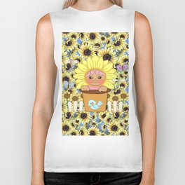 Sunflower Baby Biker Tank