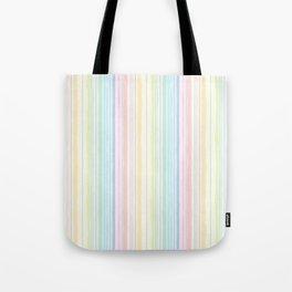 Rainbow Jiggle Stripes Tote Bag