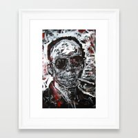 hunter s thompson Framed Art Prints featuring Hunter S Thompson by Matt Pecson