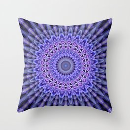 Lilac glamour mandala Throw Pillow