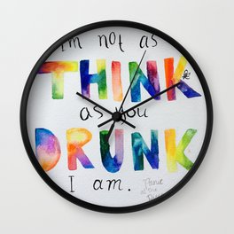 """Panic! at the Disco lyrics """"I'm not as think as you drunk I am"""" Wall Clock"""