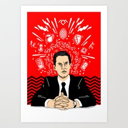 Twin Peaks: Dale Cooper's Thoughts Art Print