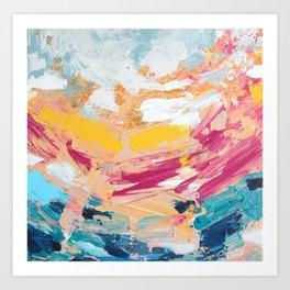 bursting brightly Art Print