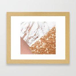 Layers of rose gold Framed Art Print