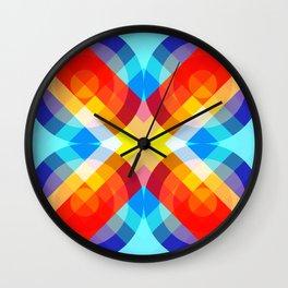 Busama - Colorful Abstract Art Wall Clock