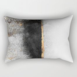 Soot And Gold Rectangular Pillow