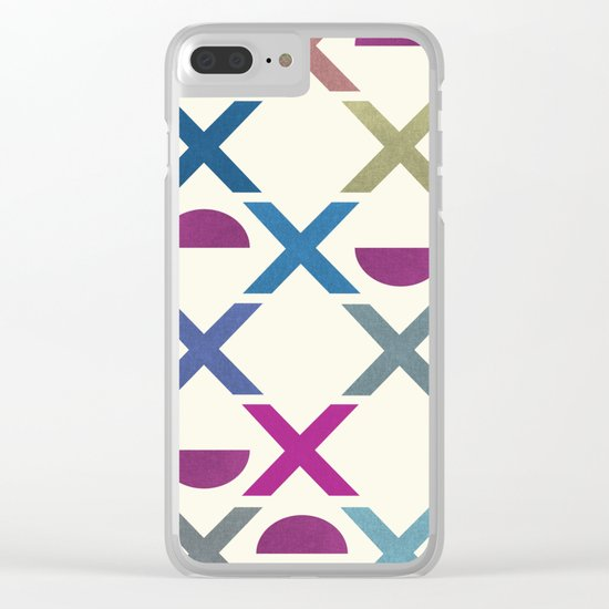 Abstract Unique Pattern Clear iPhone Case