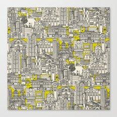 Hong Kong toile de jouy chartreuse Canvas Print