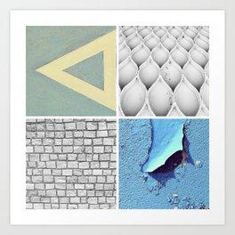 Graphic Quadrant 3 Art Print