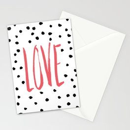 Love dot com — pink Stationery Cards