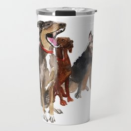 watercolor dog vol2 Pointer, Coonhound, Alaskan Travel Mug