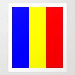 Flag of romania 2 -romania,romanian,balkan,bucharest,danube,romani,romana,bucuresti Art Print