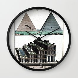 Pyramids and Floating (Suspended) Gardens of Babylon Wall Clock