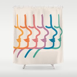 Boca Silhouettes Shower Curtain