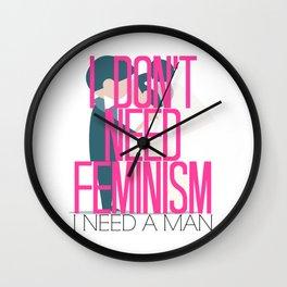 Feminism Brush-Off Wall Clock