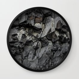 Iceland Rock wall Wall Clock