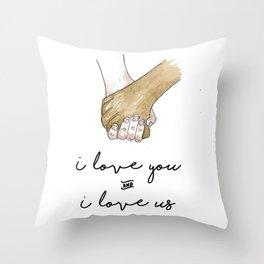 Holding Hands Throw Pillow