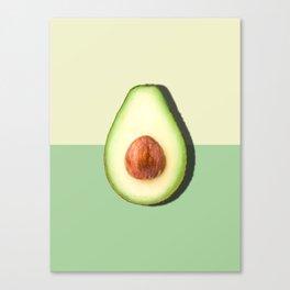 Avocado Half Slice Canvas Print