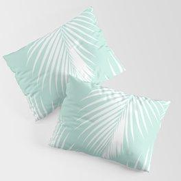 Mint Tropical Pattern Pillow Sham