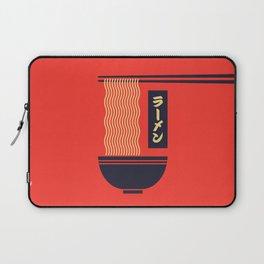 Ramen Japanese Food Noodle Bowl Chopsticks - Red Laptop Sleeve