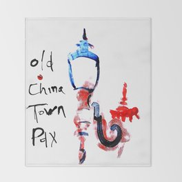 Portland Old China Town Throw Blanket