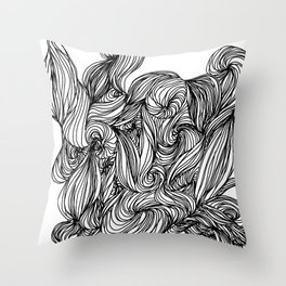 Daydreaming Hair Throw Pillow