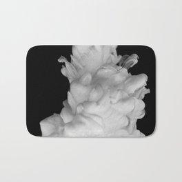 Plume on Black Bath Mat