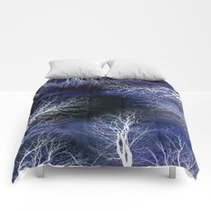 Abstract Midnight Trees Comforters