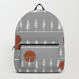 Pine Tree Forest Sunset Backpack