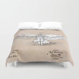 patent art Spalding Flying Machine 2    1889 Duvet Cover