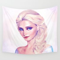 elsa Wall Tapestries featuring Elsa by EcaJT