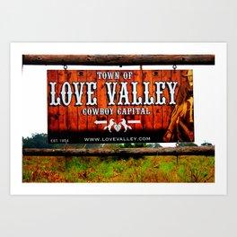 Cowboy Capital Art Print